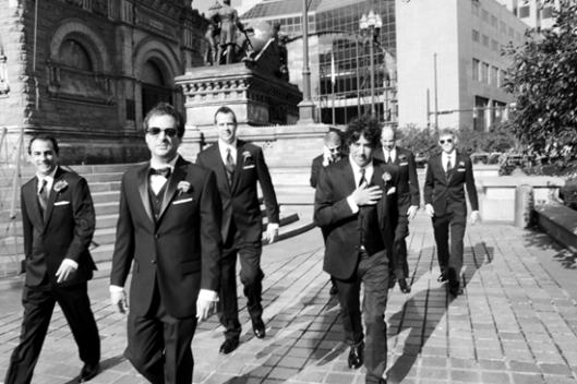 Wes and his groomsmen en route to wedding (photo by sarah sloboda)