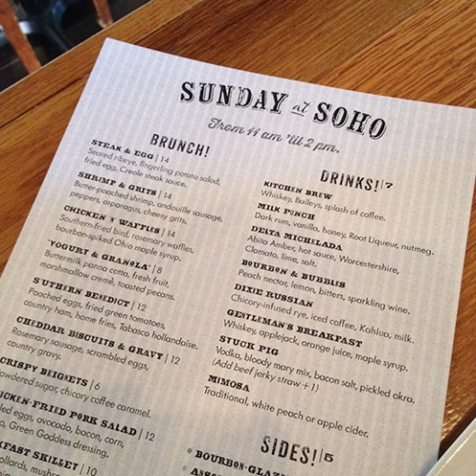 LOVE Soho.  LOVE their brunches LOVE the awesome staff and LOVE the owners.