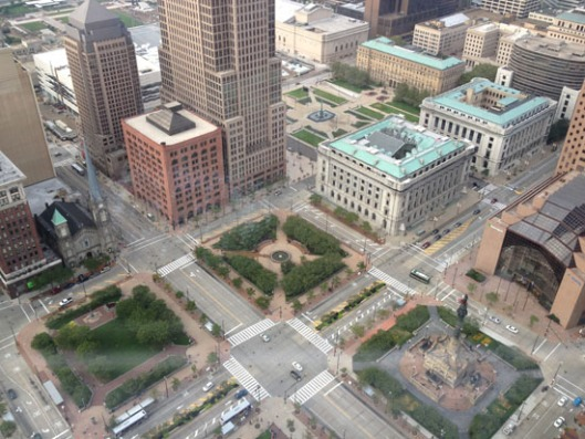 The view from the observation deck of the Terminal Tower during our rehearsal dinner