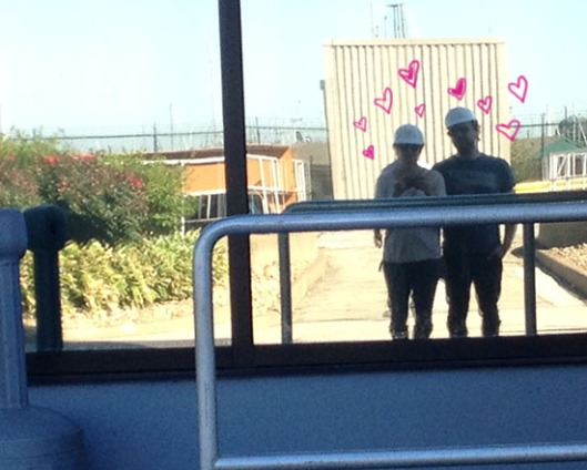 lover's selfie even at the waste treatment facility xo.