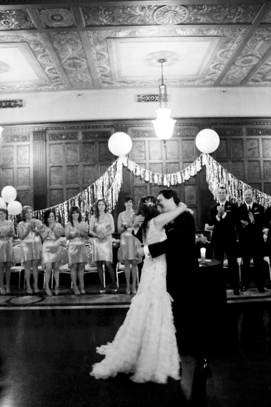 Our first kiss as man and wife.  (photo by sarah sloboda)
