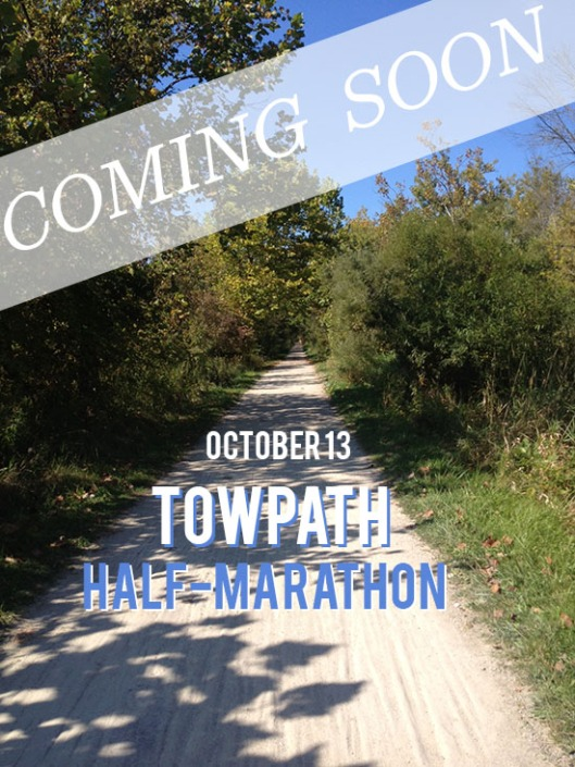 Wes and I decided to drive out to the starting point of the TowPath Half marathon so that we knew where we were going on race day and could eliminate any undo stress that day.